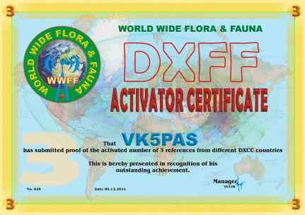 DXFF A3 VK5PAS