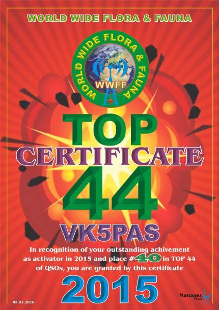 TOP 44 2015 Q VK5PAS 40