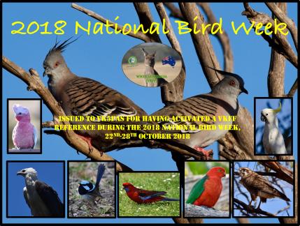 VK5PAS 2018 National Bird Week
