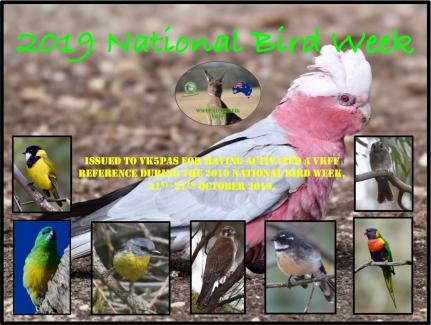 VK5PAS 2019 National Bird Week