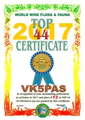 VK5PAS TOP 44 2017 REFERENCES
