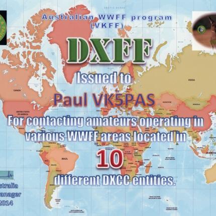 VK5PAS VKFF DX Hunter 10